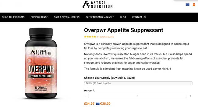 Overpwr is made by Astral Nutrition