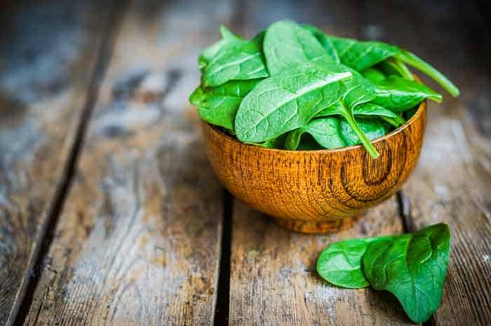 Spinach is a good fat burner